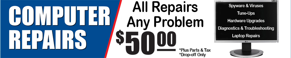 All Computer Repairs Now $50!